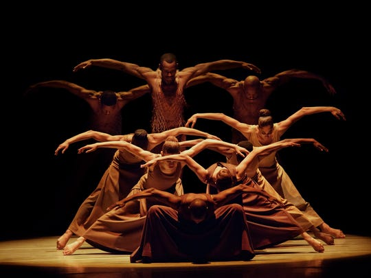 "Alvin Ailey American Dance Theater in Alvin Ailey's ""Revelations."""