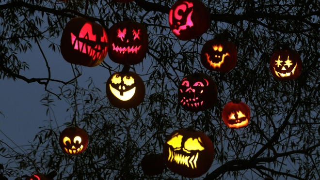 Providence, RI,  Oct 4, 2018 - It's opening night for the Jack O Lantern Spectacular at the Roger Williams Park Zoo.