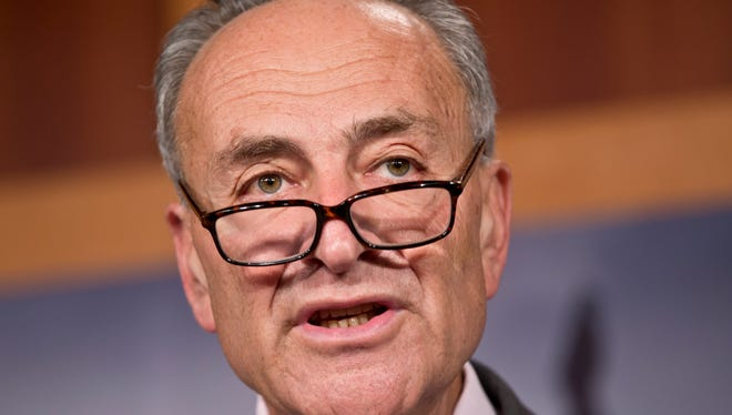 Sen. Chuck Schumer, D-N.Y., at a news conference at the Capitol in Washington, Aug. 1, 2013.