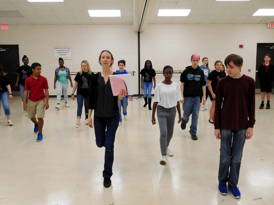 Swift Creek musical theater students learn new choreography