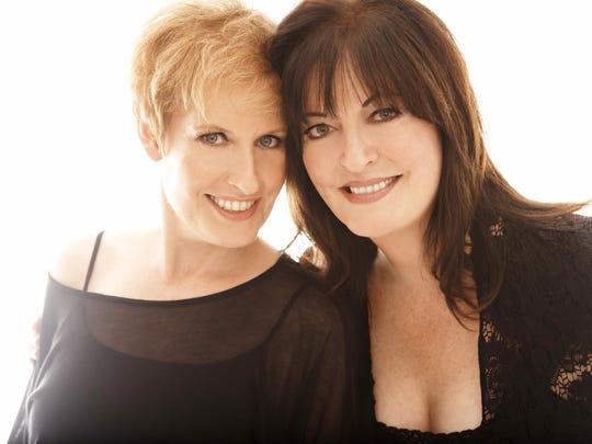 Liz Callaway (left) and Ann Hampton Callaway.