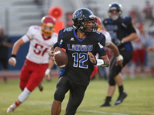 Cathedral City High School quarterback Nicandro Guardiola