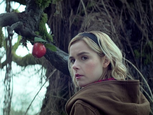 "Kiernan Shipka as Sabrina on ""Chilling Adventures of Sabrina."""