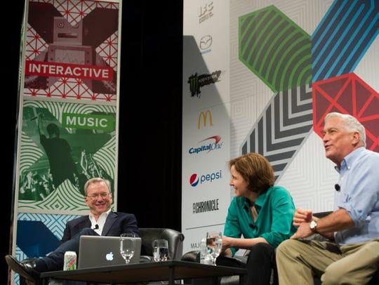 Google Executive Chairman Eric Schmidt with Megan Smith,