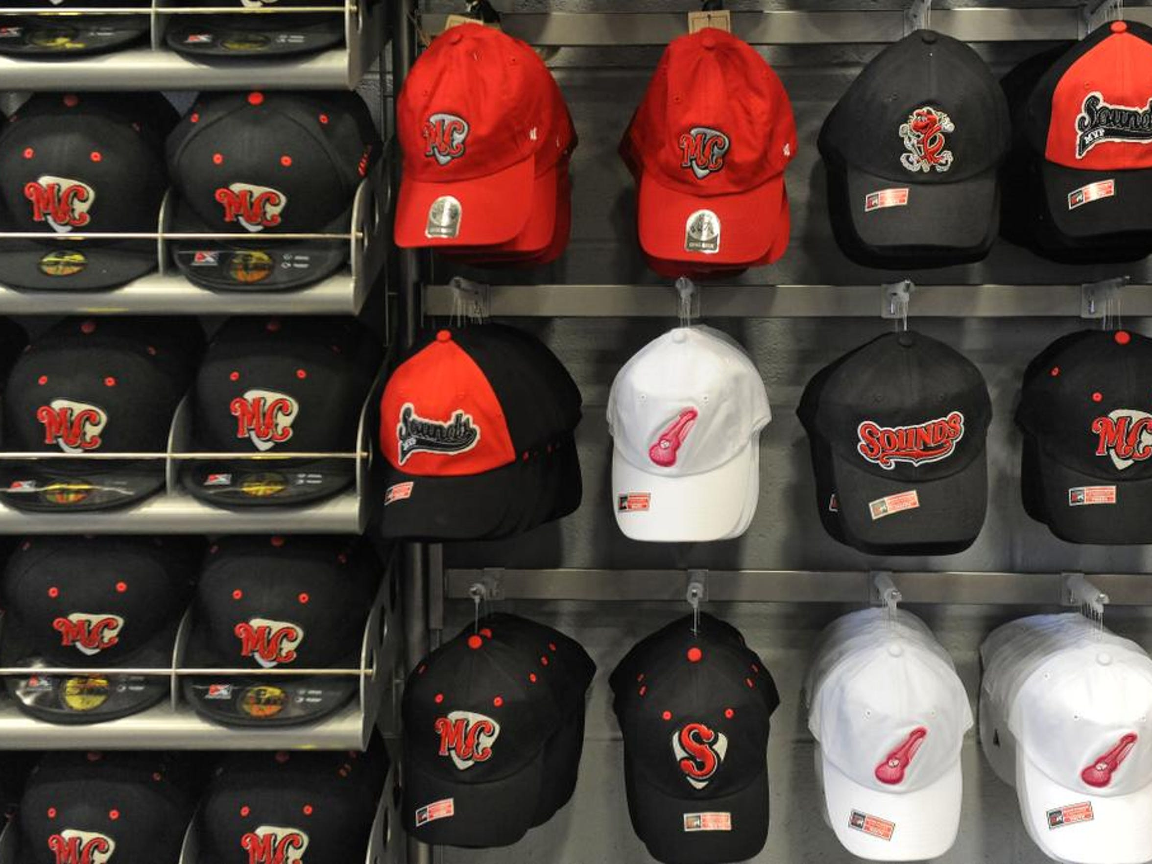 A look at the merchandise available for sale at the new ball park.