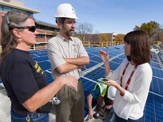 Solar Panels Installed on Colorado State University's Braiden Ha