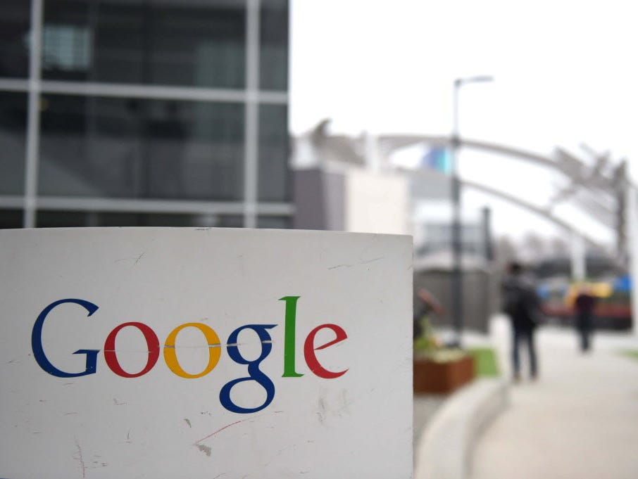 This February 20, 2015 file photo shows the Google logo at the Google campus in Mountain View, Calif.