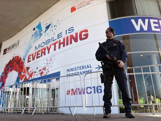 A member of the Catalan police, mossos d'esquadra,