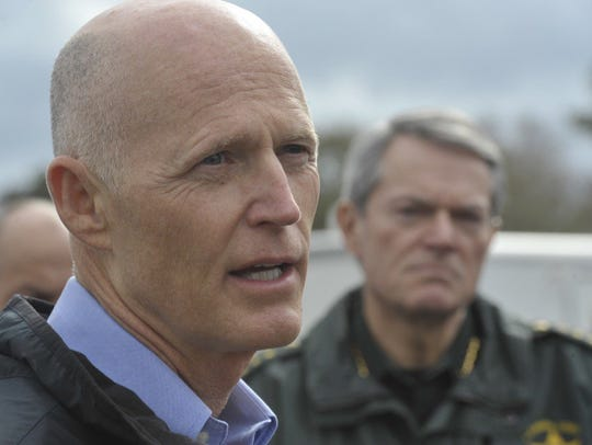 Florida Gov. Rick Scott is in Pensacola assessing the