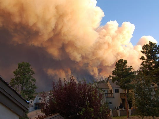 This undated image was taken from a house at the Los Conchas Fire threatened Los Alamos.