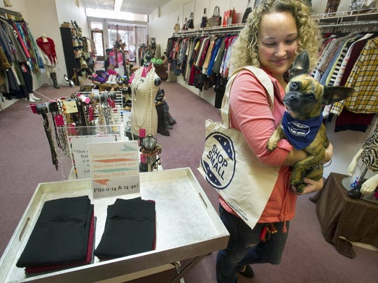 My Girlfriend's Wardrobe, 41, W. Market St., will have adoptable dogs in the store during First Friday April 1.