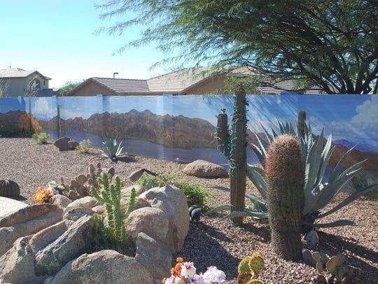 Paula and Jim Damico's Saguaro Lake mural is one of