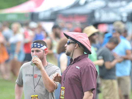 A scene from the 2016 Burning Can festival held at Oskar Blues Brewing in Brevard. The outdoor fun-themed festival featured many ways to drink beer and have fun.