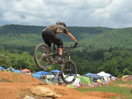 Mountain biking is a big part of the Burning Can festival