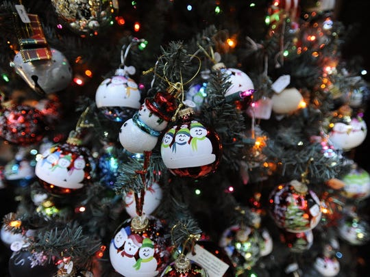 Christmas decorations at Lambert Castle.
