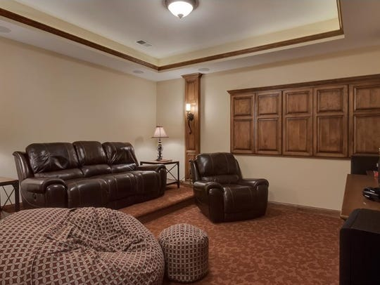 Raised seating and built-in surround sound make this