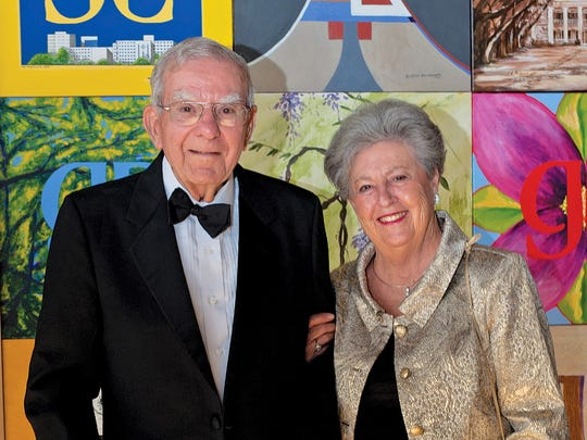 Longtime TMH administrator M.T. Mustian and his wife, Jackie, were married 61 years.