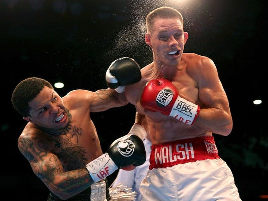 Gervonta Davis connects with a left on the head of