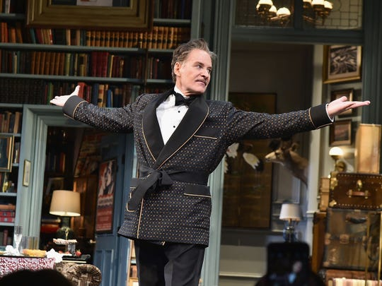 """Kevin Kline during curtain call for """"Present Laughter"""" Broadway Opening Night - Arrivals & Curtain Call at St. James Theatre on April 5, 2017 in New York City.  (Photo by Theo Wargo/Getty Images)"""