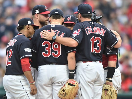 Mickey Callaway with the Indians