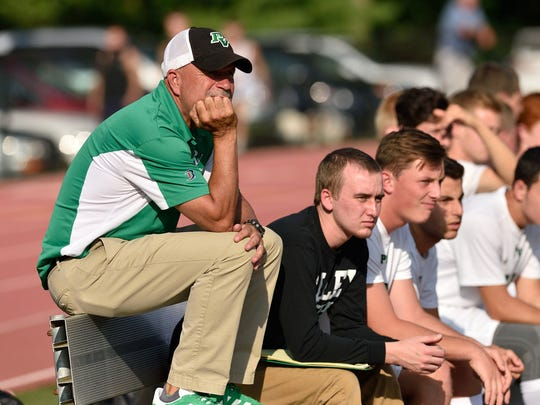 Pascack Valley coach Roy Nygren watches his team play
