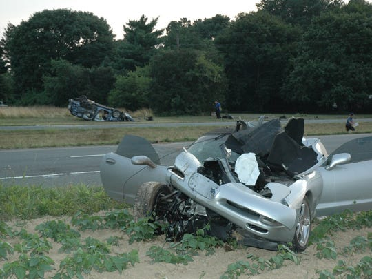 A fatal crash on Route 1 from the Delaware State Police archives.