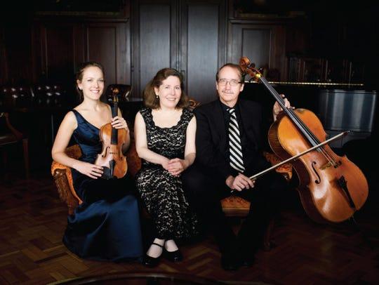 Violinist Margot Schwartz, pianist Stefanie Jacob and cellist Scott Tisdel constitute the Prometheus Trio.
