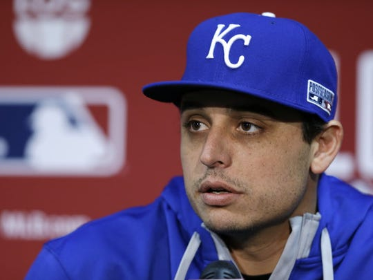 4 of 132444c13e_00001.jpg Kansas City Royals starting pitcher Jason Vargas listens to a question before Game 3 of the American League baseball championship series against the Baltimore Orioles Tuesday, Oct. 14, 2014, in Kansas City, Mo. 4 of 132444c13e_00001.jpg Kansas City Royals starting pitcher Jason Vargas listens to a question before Game 3 of the American League baseball championship series against the Baltimore Orioles Tuesday, Oct. 14, 2014, in Kansas City, Mo.