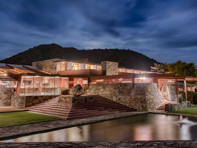 Taliesin West was founded by architect Frank Lloyd
