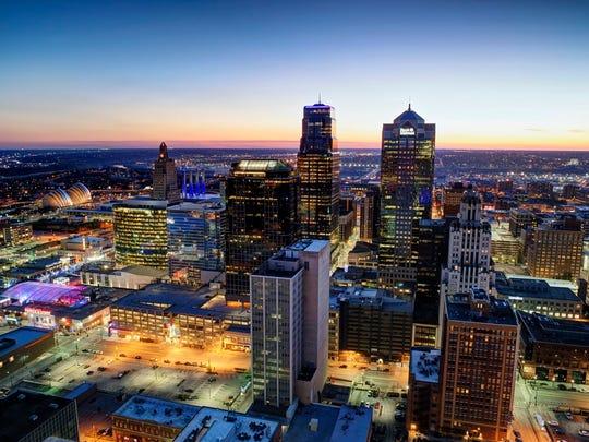 Kansas City, Missouri skyline.