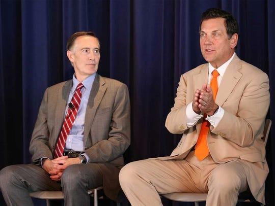 Advocate Aurora Health CEO Nick Turkal (left) and Northwestern