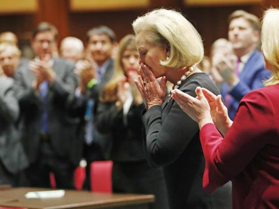 Cindy McCain at the State of the State speech at the
