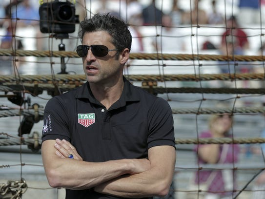 Patrick Dempsey served as honorary starter for the