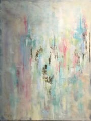 "Painter Merri Bundy's painting ""Celestial"" is part of her exhibit ""Transition to Abstract"" at The Galleria at the Forum through December 15."
