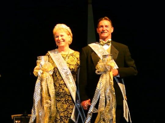 Krewe Gemini Duchess Karen McDonald and Duke Kevin McDonald at Royalty Coronation.