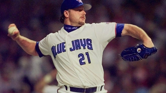 Roger Clemens was done with the Red Sox after 1996 and an American League All-Star with Toronto the following year.