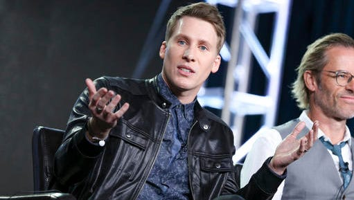 "Dustin Lance Black speaks at the ""When We Rise"" panel at the Disney/ABC portion of the 2017 Winter Television Critics Association press tour on Tuesday, Jan. 10, 2017, in Pasadena, Calif."