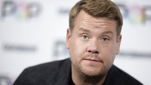 "FILE - In this  Oct. 30, 2016, file photo, James Corden attends the 2016 Entertainment Weekly's Popfest. The British host of CBS' ""Late Late Show"" said on the Wednesday, March 22, 2017, show that he ""felt a really long, long way from home"" while watching news reports of the attack in London that left four people dead, including the attacker."