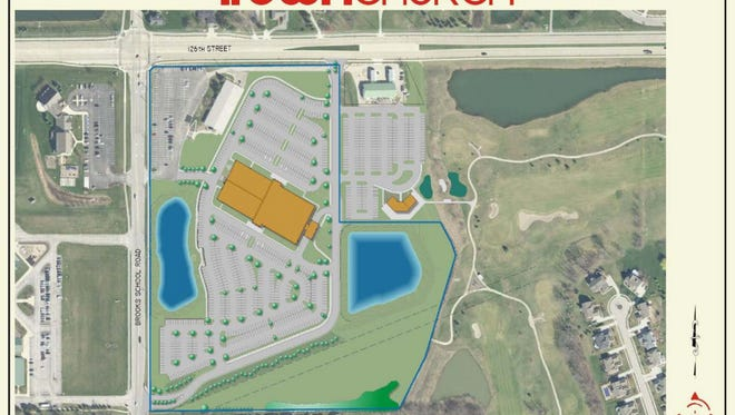 A map of what iTown Church's proposed relocation.