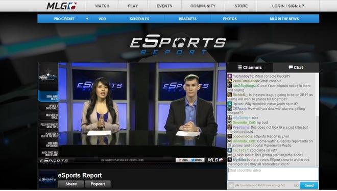 A screen shot from the ESports report on MLG.tv.