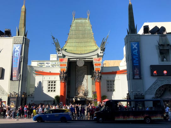 The TCL Chinese Theatre, shot from from across the
