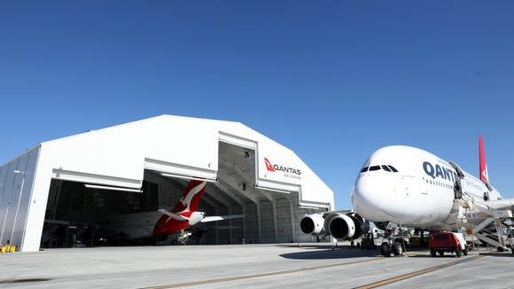 Qantas unveils A380-sized hangar at LAX