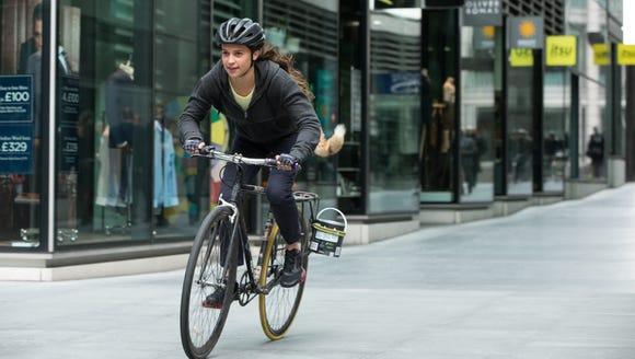 """Alicia Vikander takes a ride in """"Tomb Raider."""""""