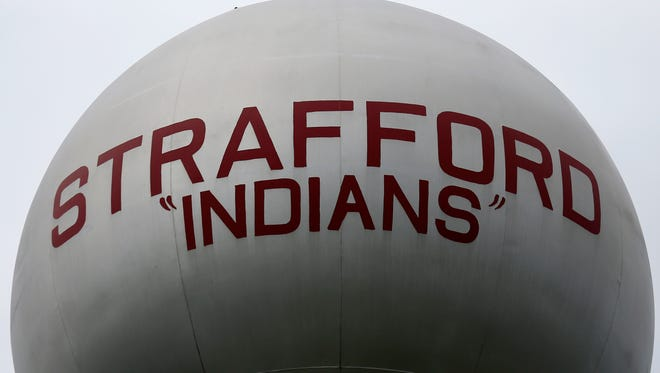 Answer Man: Why are there quote marks around the word Indians on the Strafford water tower?