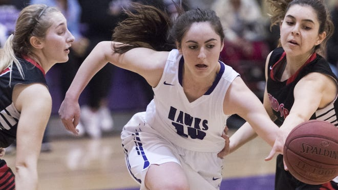 Mission Oak's Rhegan Fernandes and the Hawks are the defending East Yosemite League champions in girls basketball.