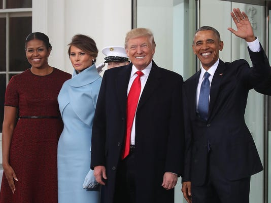 *** BESTPIX *** Donald And Melania Trump Arrive At White House Ahead Of Inauguration