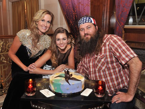 Korie Robertson, left, Sadie Robertson and Willie Robertson attend an Evening By Sherri Hill fashion show after party during Fashion Week  at The Plaza Hotel on Sept. 9, 2013, in New York City.