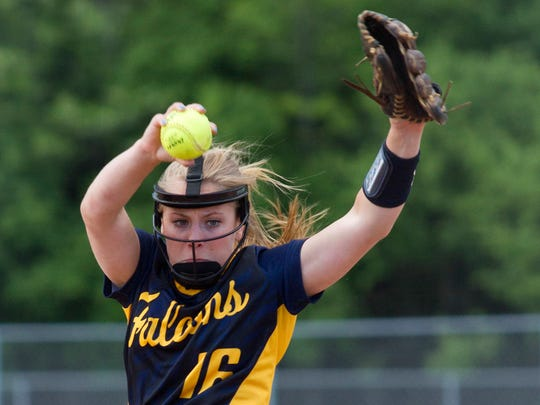 Whitnall's Haley Wynn delivers to the plate during