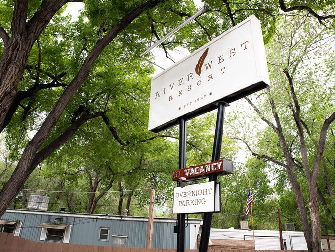 River West Resort is an RV and trailer park that Kari
