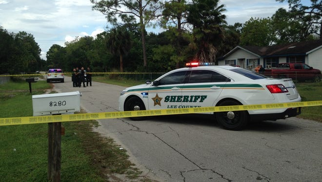 The scene in North Fort Myers that deputies responded to as a shooting that ended up being accidental.